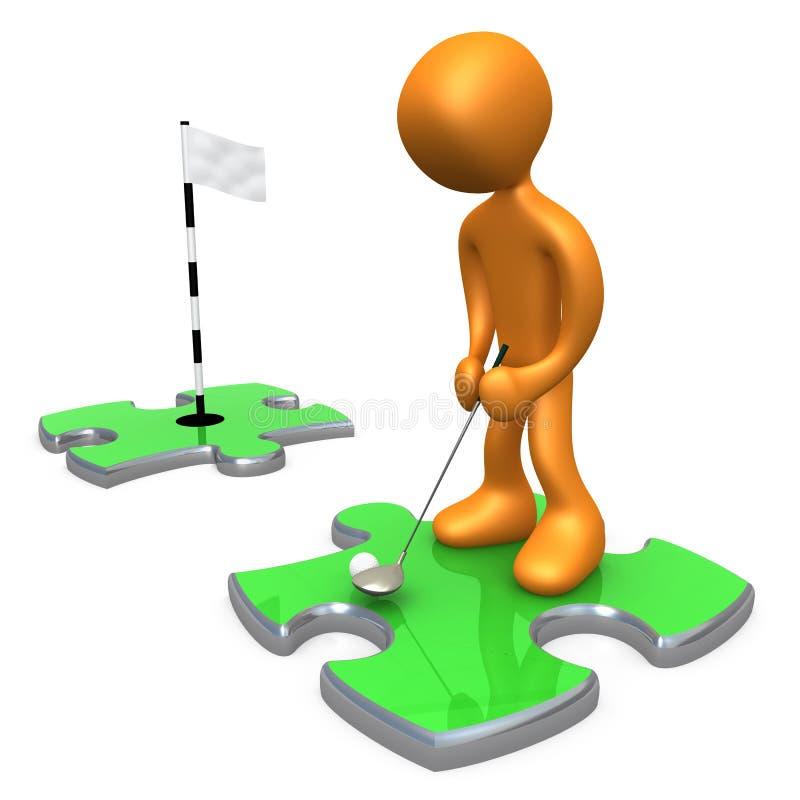 Golfeur illustration de vecteur