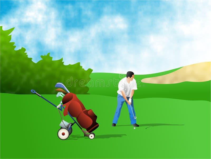 Download Golfeur illustration stock. Illustration du campagne, illustration - 90218