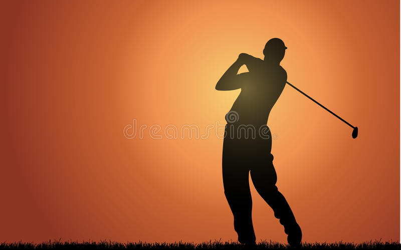 Golfeur d'Everning illustration libre de droits