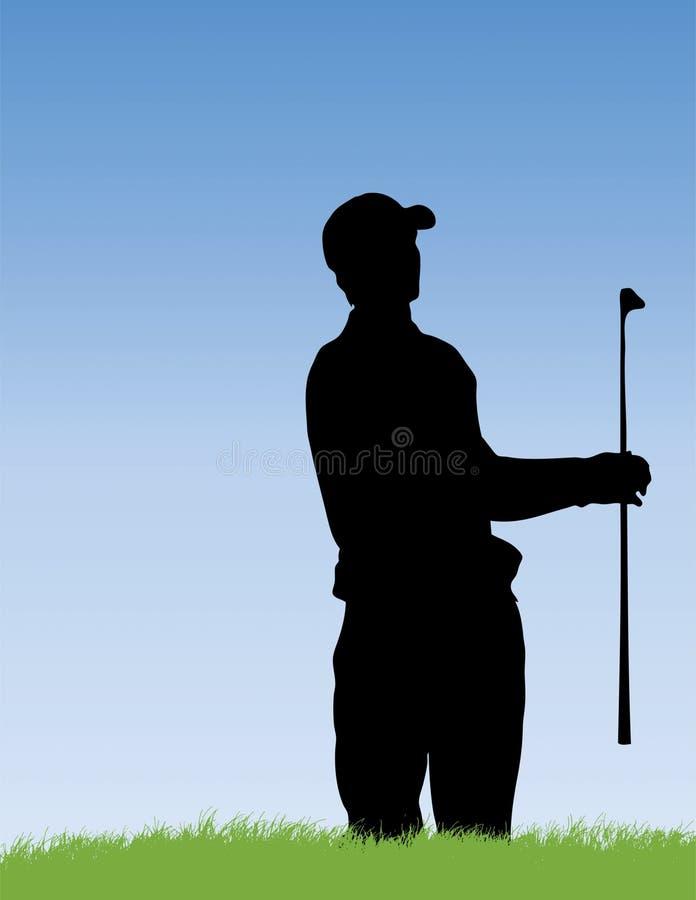 Golfeur en soute illustration de vecteur