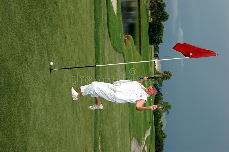 Golfeur enthousiasmé images libres de droits