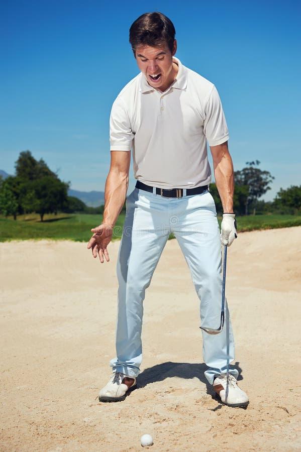 Golfeur frustrant images libres de droits
