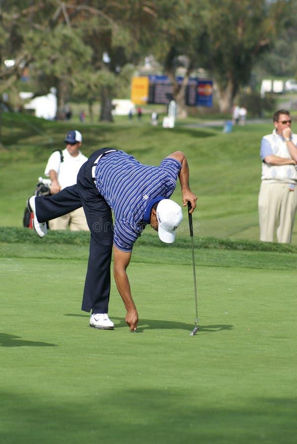 Golfeur professionnel de Tiger Woods photo libre de droits