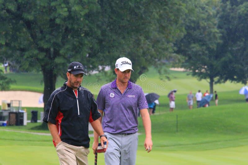 Golfeur Webb Simpson photos libres de droits
