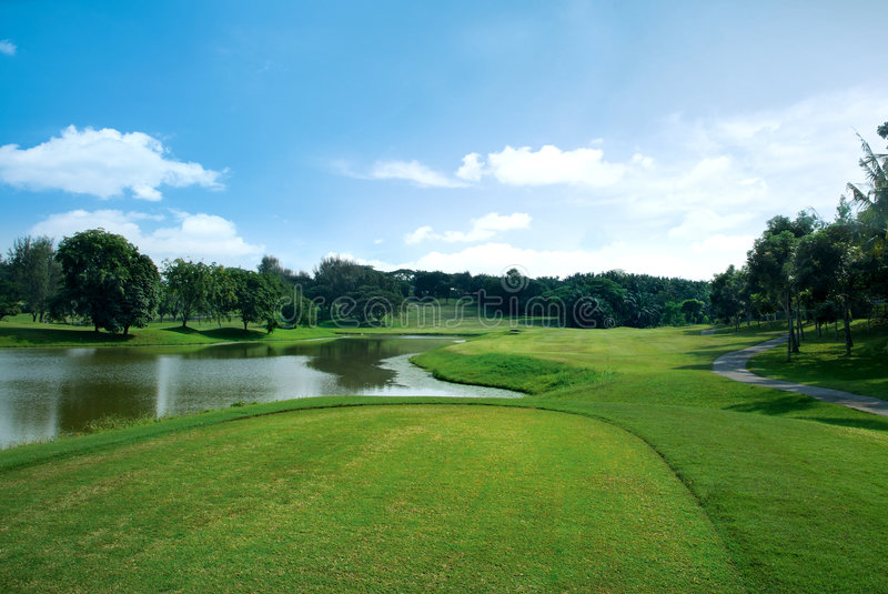 Golffeld lizenzfreies stockbild