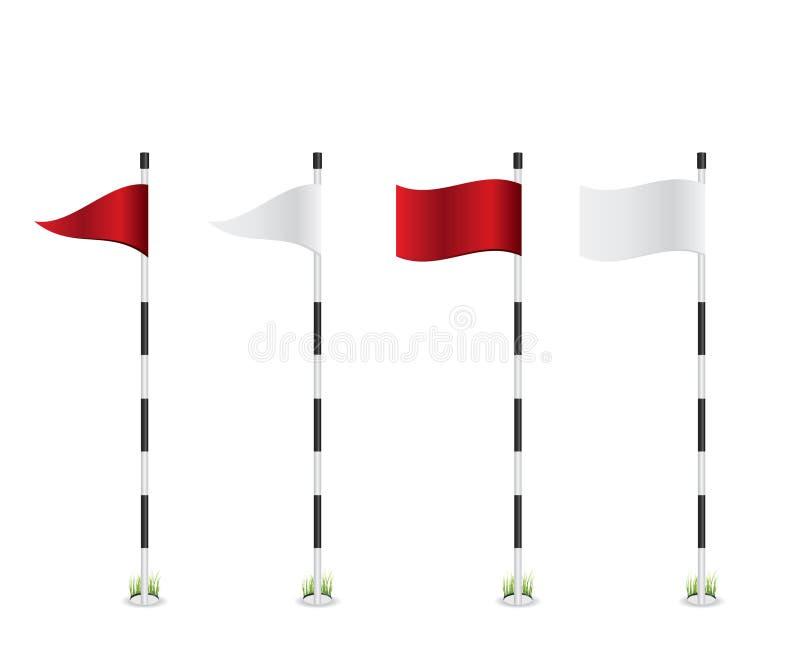 Golfflaggaillustration royaltyfri illustrationer