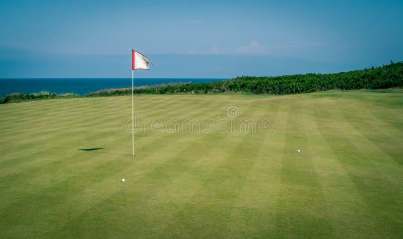 Golfflagge und -GRÜN stockbilder
