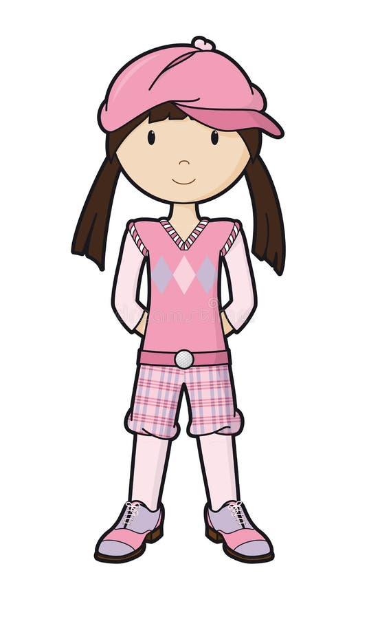 GolfGirl royalty-vrije illustratie