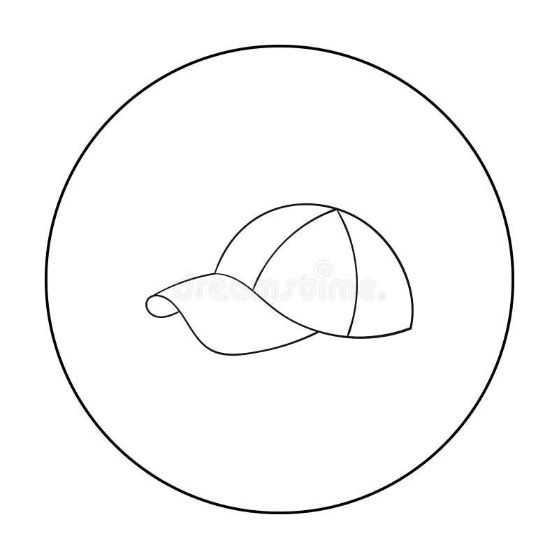 Golfglb pictogram in overzichtsstijl op witte achtergrond wordt geïsoleerd die De voorraad vectorillustratie van het golfclubsymb stock illustratie