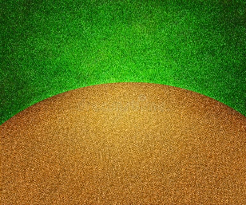 Golfgräs och sandbakgrund vektor illustrationer