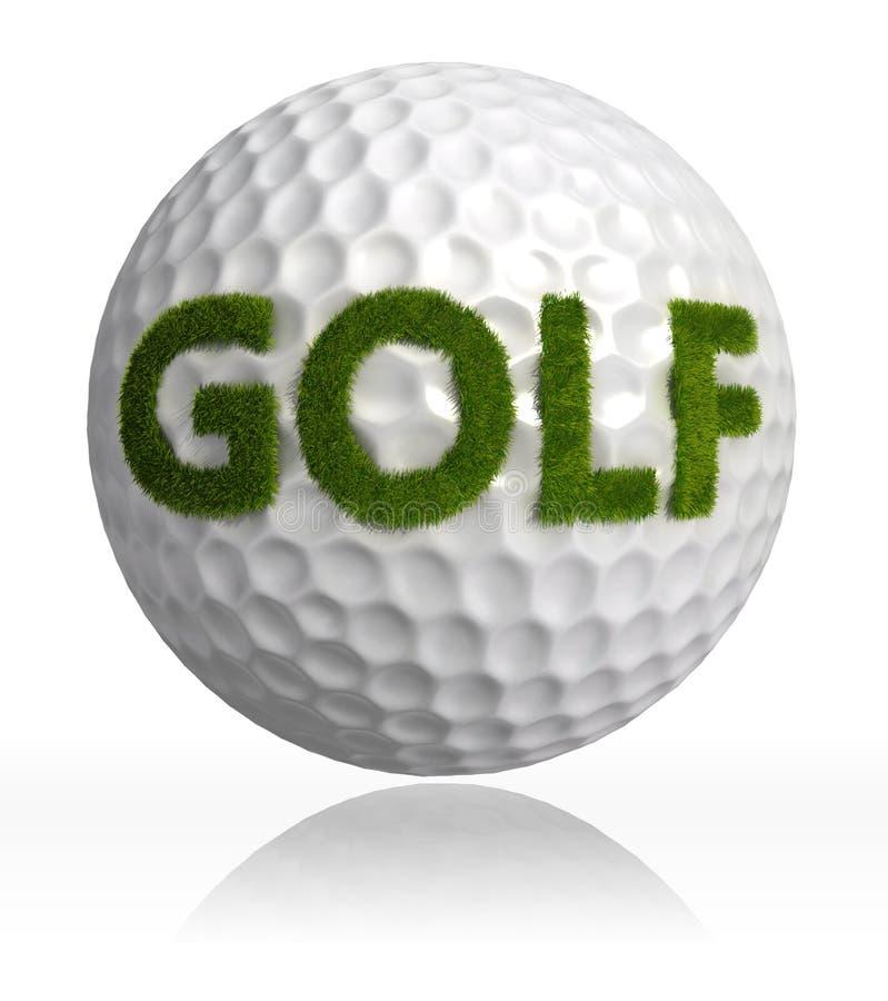Golfgräsord på boll royaltyfri illustrationer