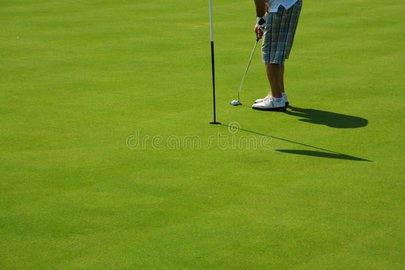 golfhål arkivbild