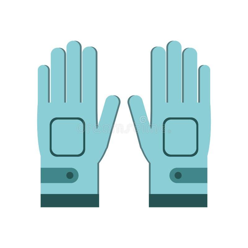 Golfhandschoenen voor spelers vector illustratie