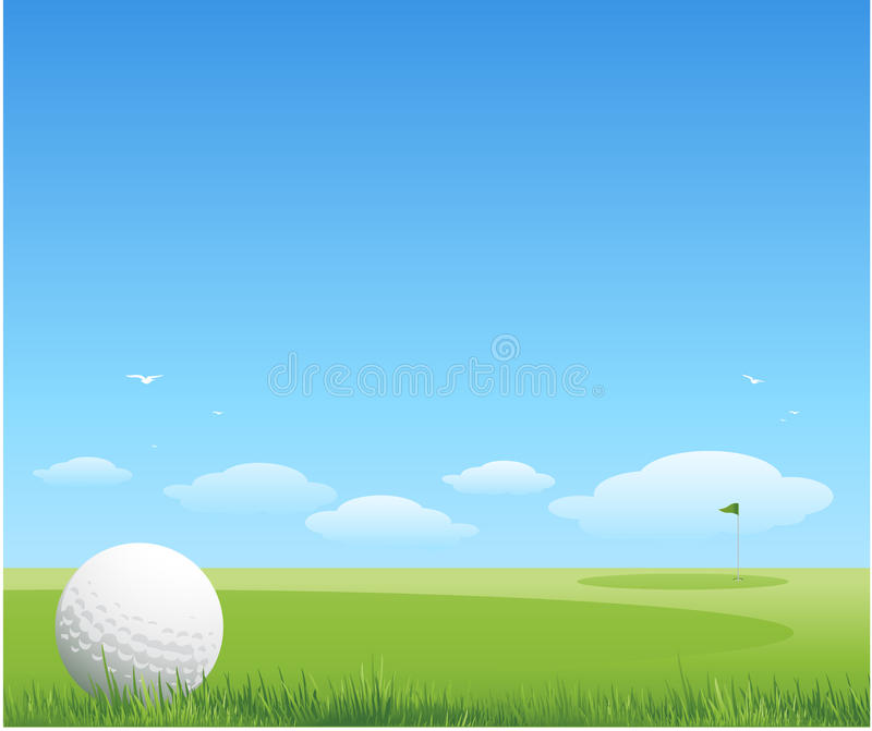 Golfhintergrund lizenzfreie abbildung