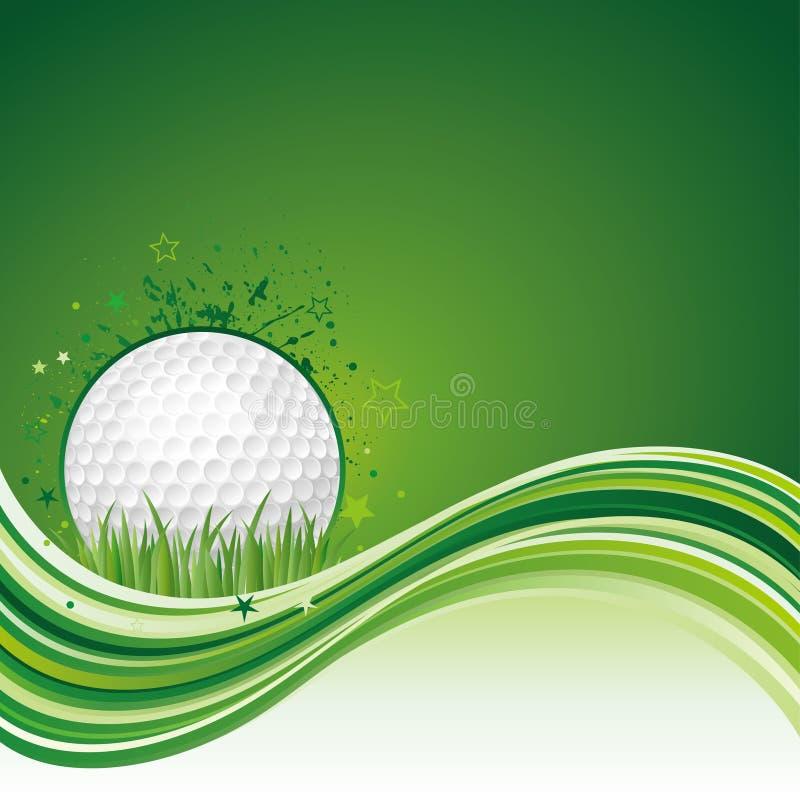 Golfhintergrund stock abbildung