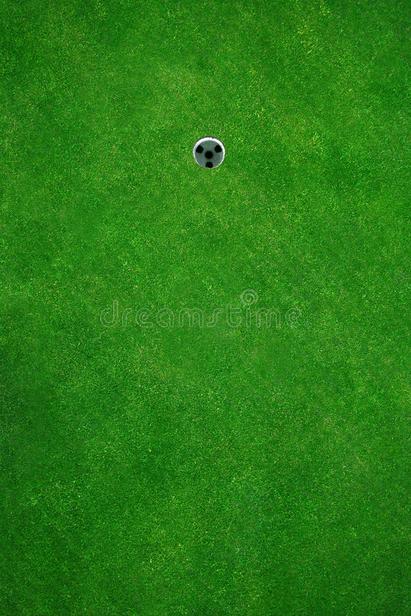 Golfhole. Beautiful golf green seen from above stock photos