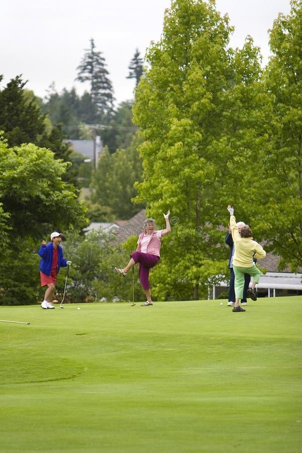 golfiści szczęśliwi fotografia stock