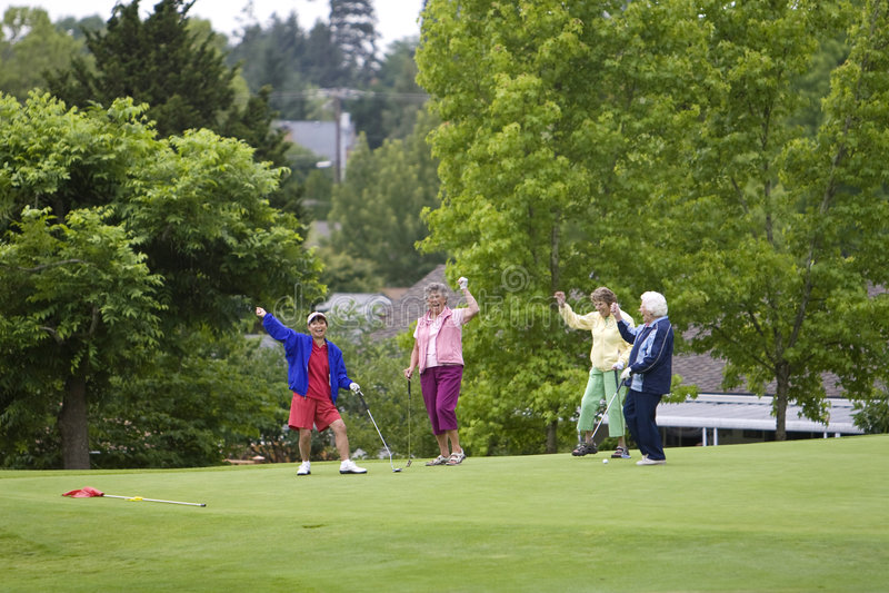 golfiści szczęśliwi zdjęcia royalty free