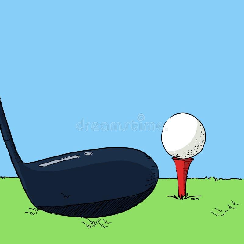 Golfillustration lizenzfreie abbildung