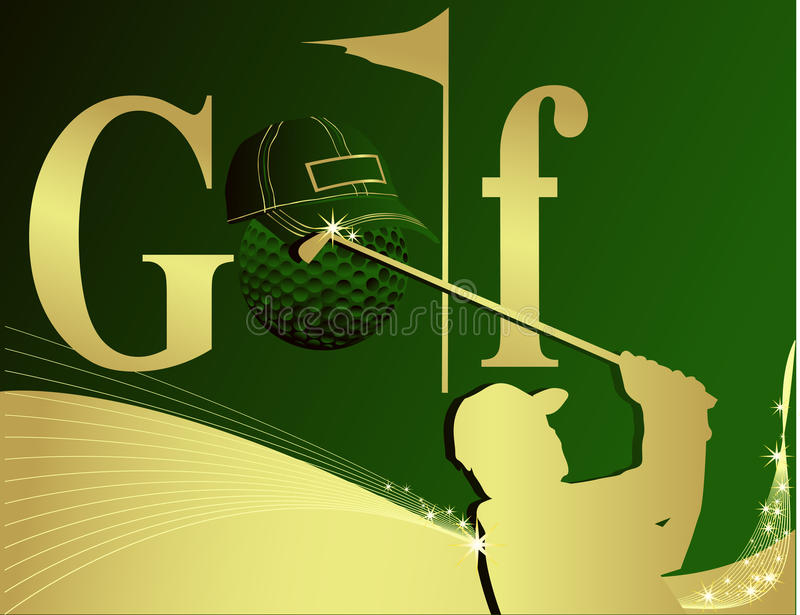 golfillustration stock illustrationer