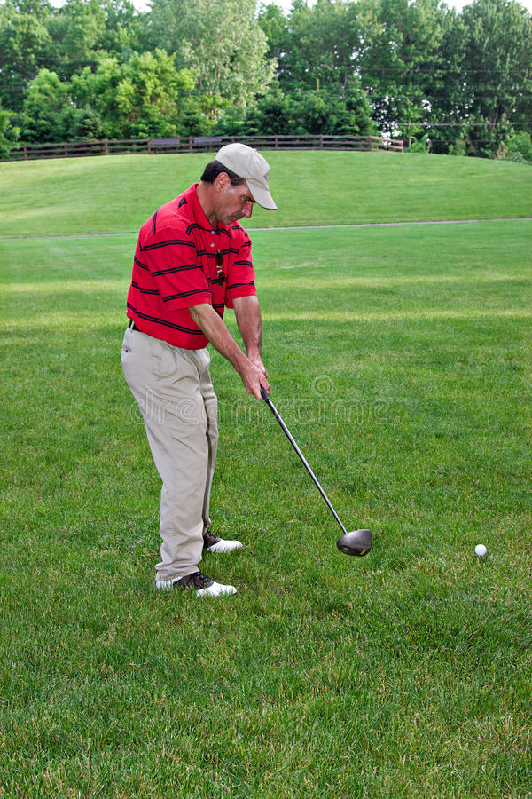 golfing άτομο στοκ εικόνα με δικαίωμα ελεύθερης χρήσης