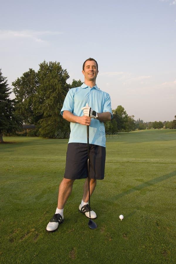 golfing вертикаль человека ся стоковые фото