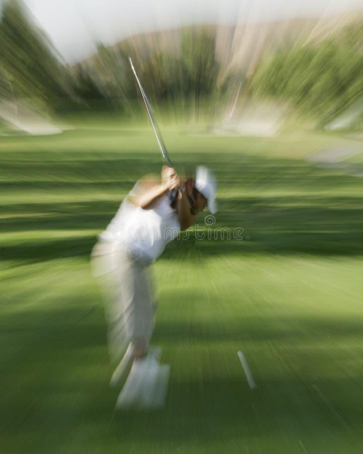 golfing действия стоковые фотографии rf