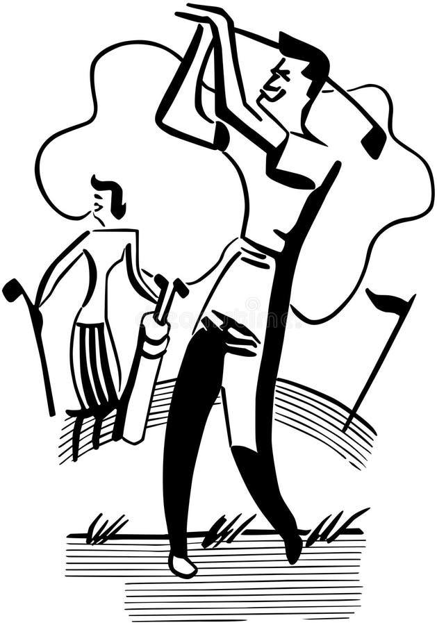 Golfing пары бесплатная иллюстрация