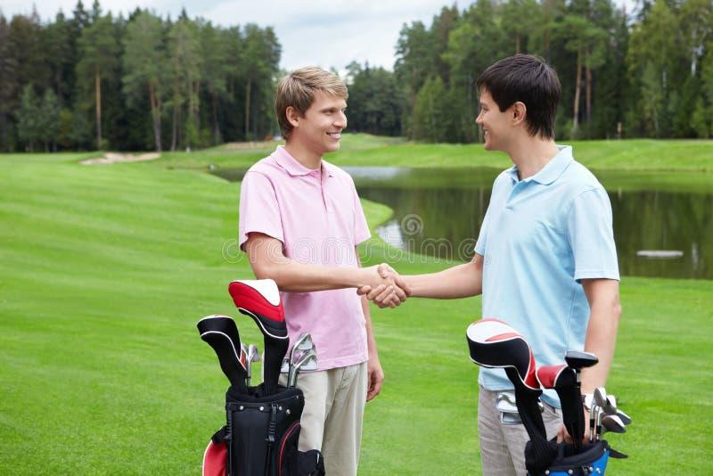 Golfing stock foto's