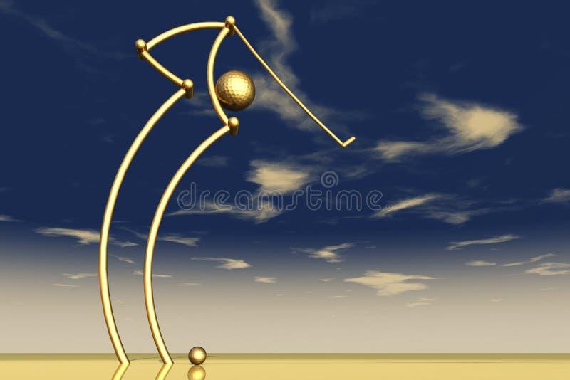 golfing иллюстрация вектора
