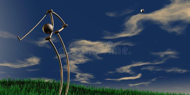 golfing бесплатная иллюстрация