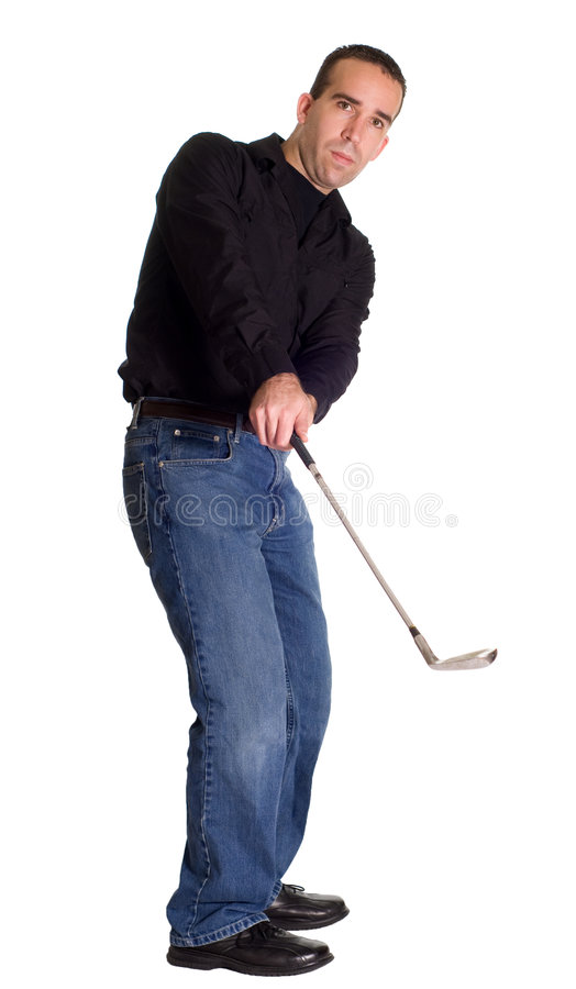 Golfing Fotografia Stock