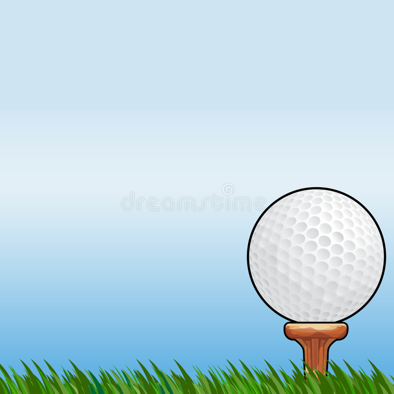 Golfing with clipping path. Illustration with clipping path vector illustration
