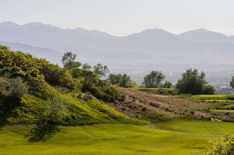 Golfing in layers stock images