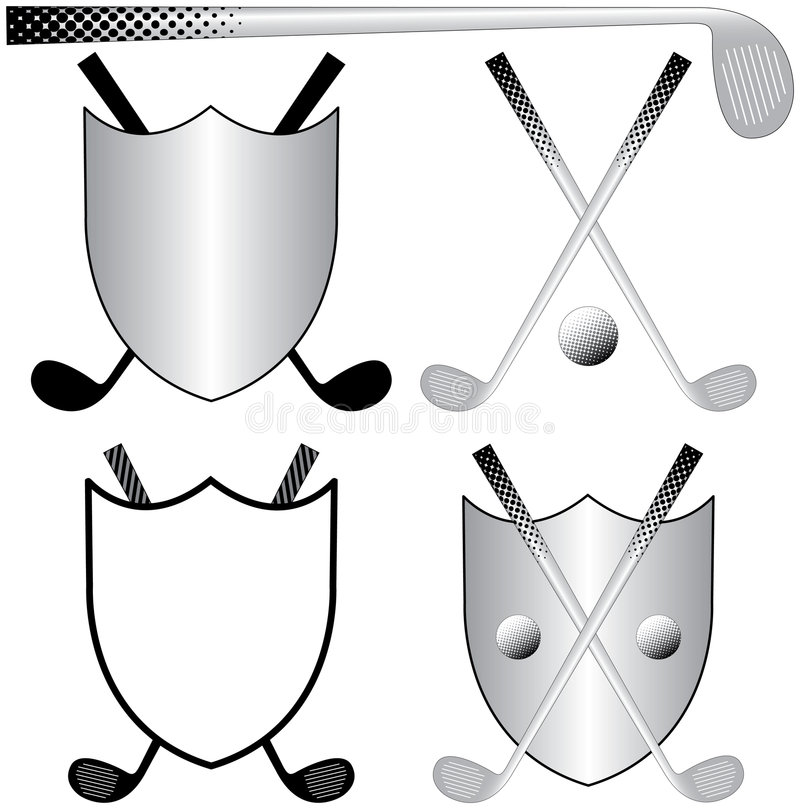 Golfing Logos stock illustration