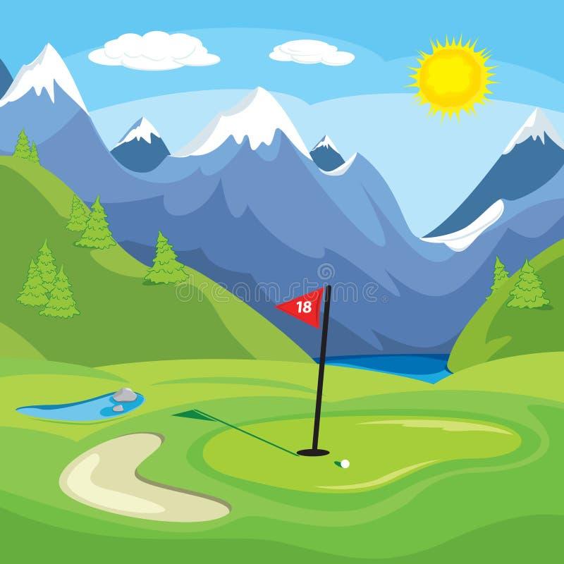 Download Golfing nelle montagne illustrazione vettoriale. Illustrazione di giusto - 3892361
