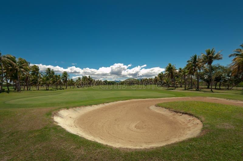 Golfing in Paradijs royalty-vrije stock foto