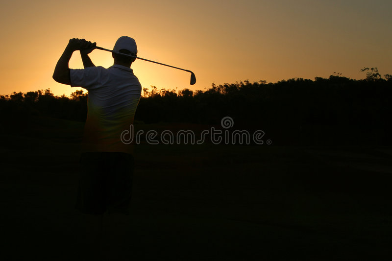 Download Golfing Silhouette Royalty Free Stock Photo - Image: 2375235