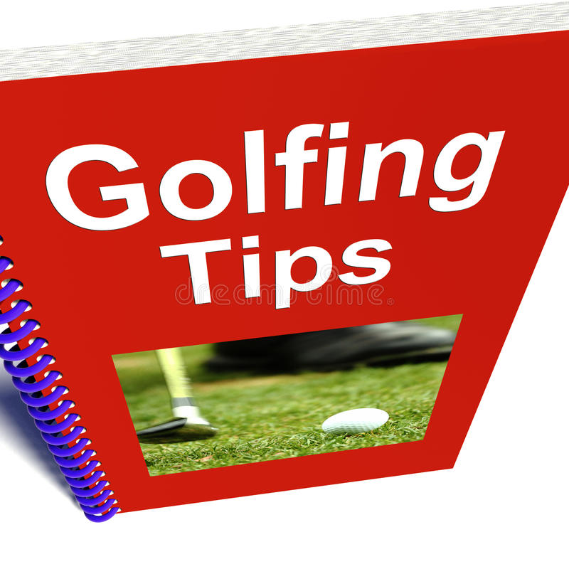 Download Golfing Tips Book Shows Advice For Golfers Stock Illustration - Image: 25845916