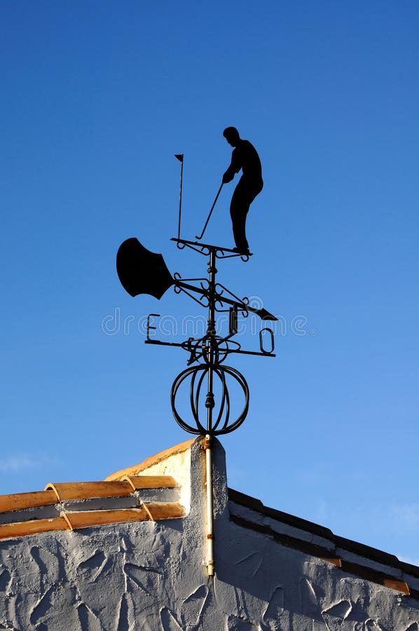 Download Golfing Weathervane, Spain. Stock Photos - Image: 25639703