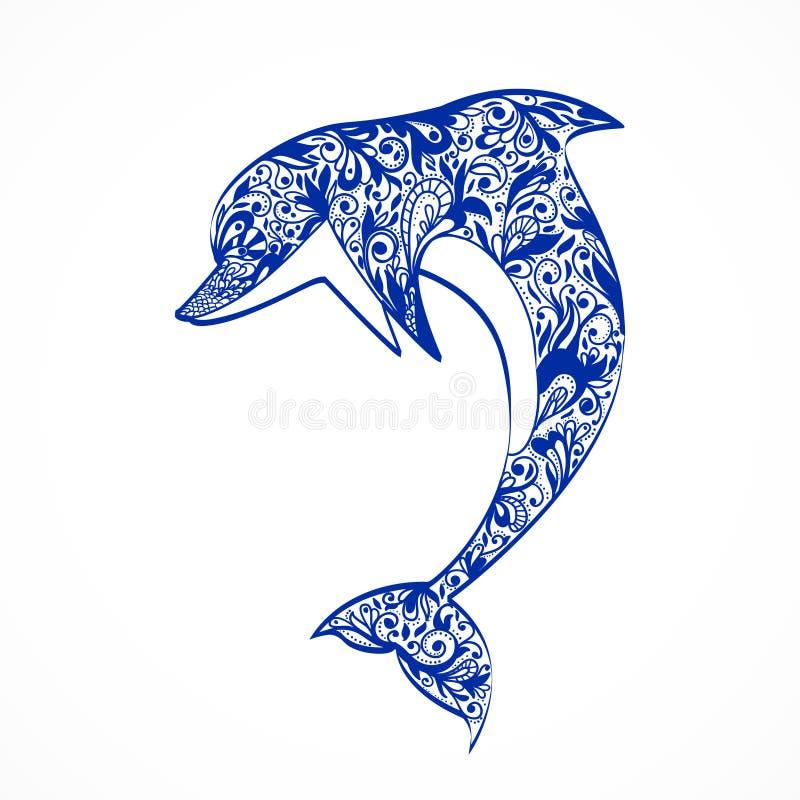 Golfinho ilustração royalty free