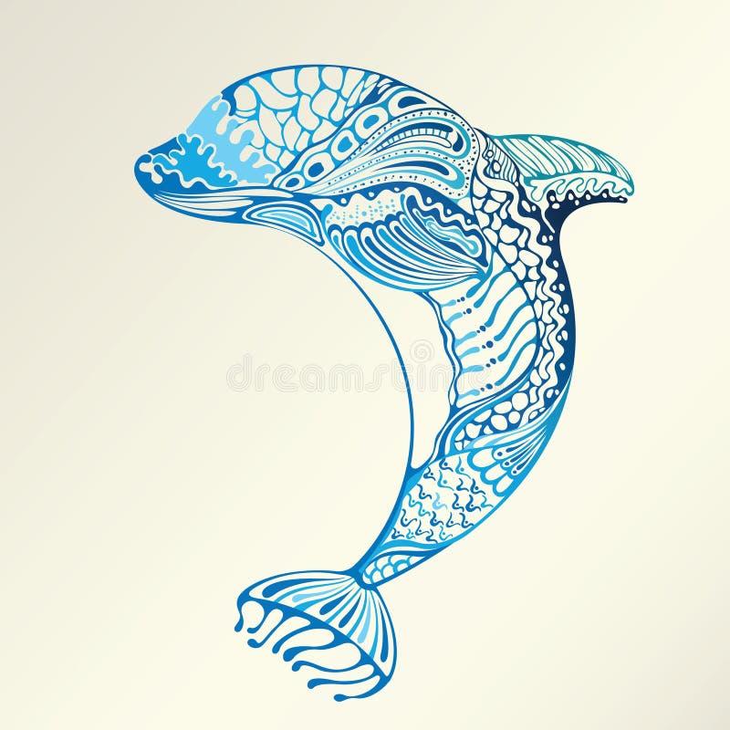 Golfinho abstrato ilustração royalty free