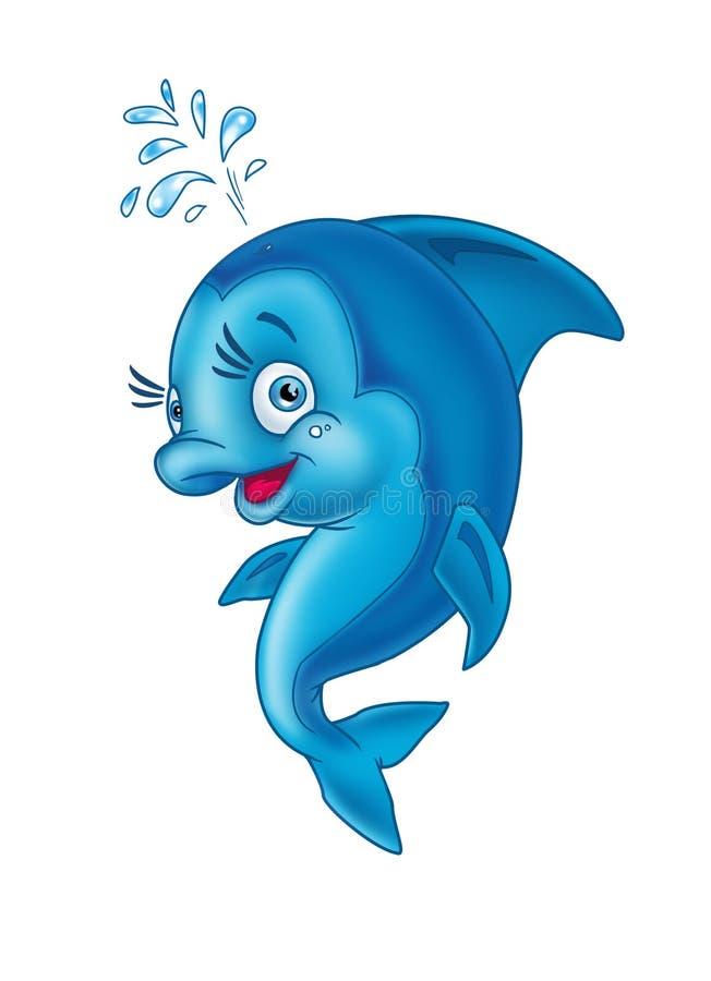 Golfinho alegre ilustração do vetor