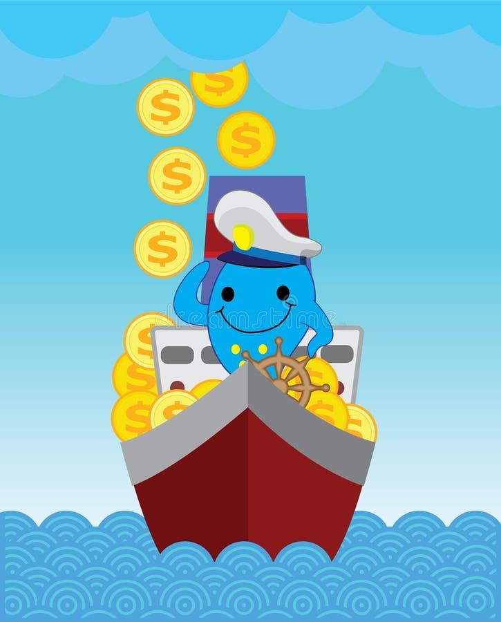 Golfinho do capitão Blue fotos de stock