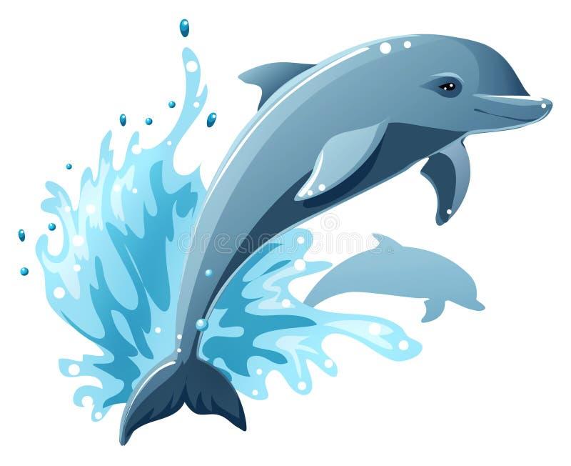 Golfinhos ilustração do vetor