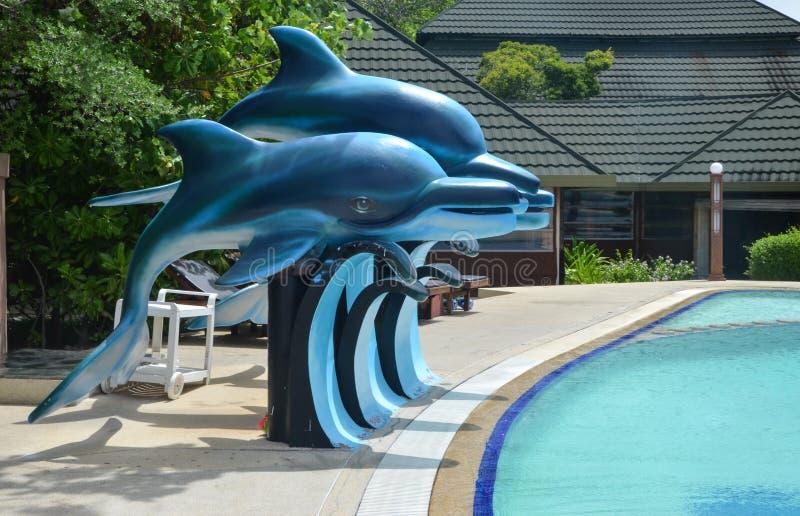 Golfinhos artificiais foto de stock royalty free
