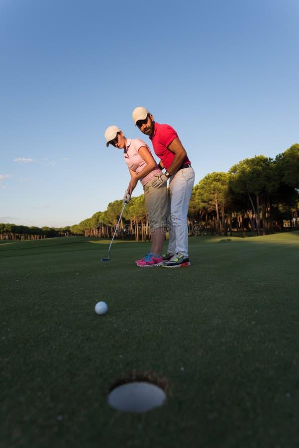 Golfinstructies royalty-vrije stock foto's