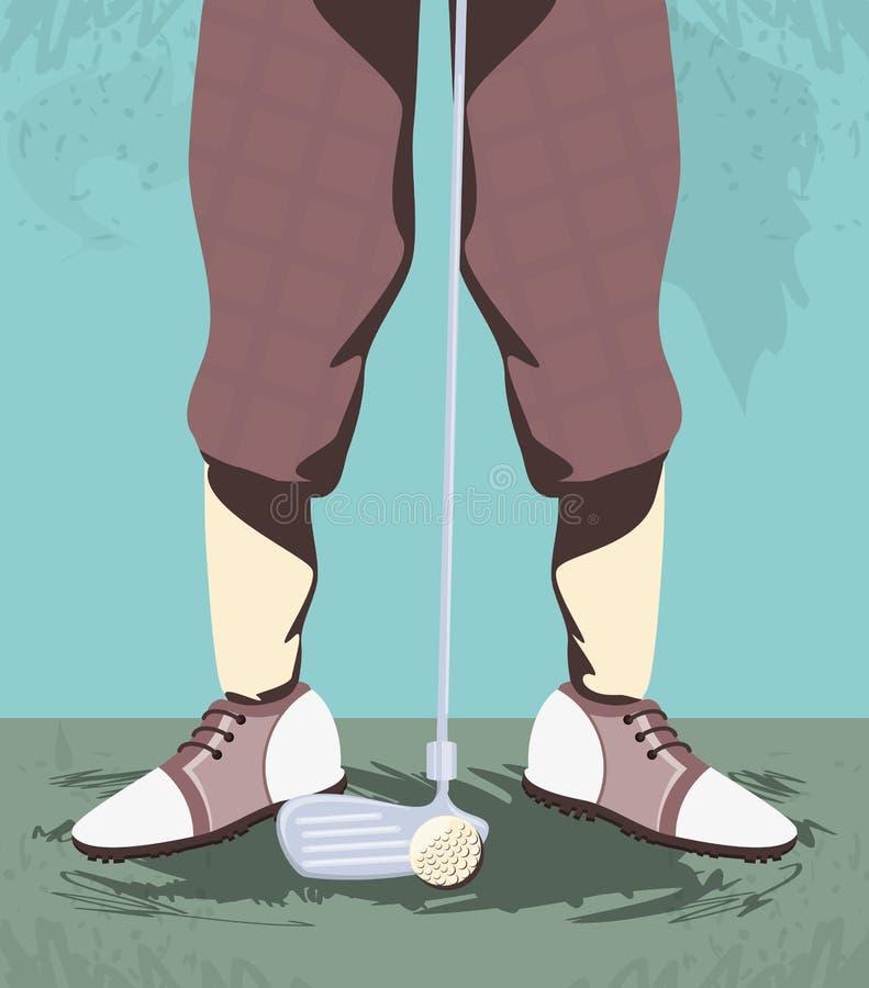 Golfistów cieki na polu golfowym ilustracji