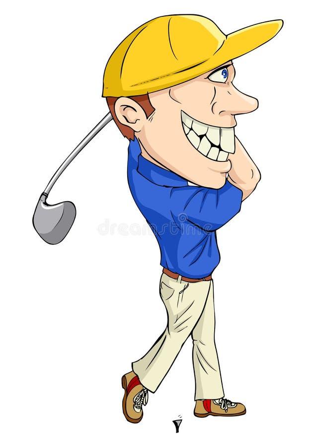 Golfista ilustracji