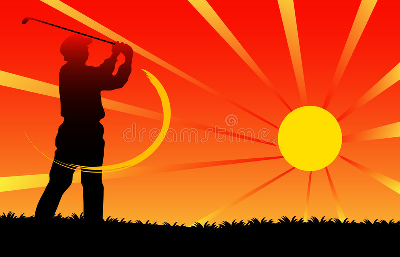 Golfista stock de ilustración